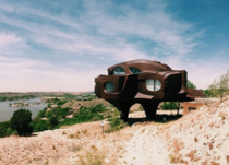 The Robert Bruno Steel House outside of Lubbock Texas