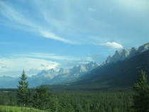 The Rocky Mountain Trench near Canmore Alberta Canada OC