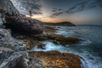 The rocky shores of Acadia National Park