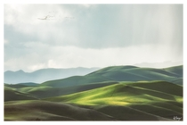 The rolling green hills of Livermore CA during the stormy weather yesterday The light is just magical