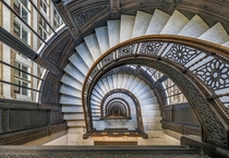 The Rookery Building Oriel Staircase Chicago IL Burnham amp Root Architects