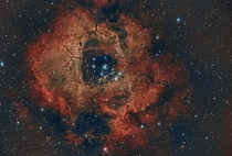 The Rosette Nebula blooming through my -inch refractor from  light-years away
