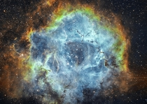 The Rosette nebula in SHO - captured with  inch telescope