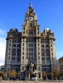 The Royal Liver Building Liverpool UK Designed by Walter Aubrey Thomas