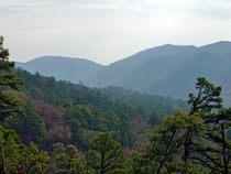 The rugged Ouachita Mountains of Arkansas USA detached Southwest Appalachia
