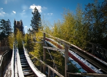 The ruined Big Dipper roller coaster at Geauga Lake Amusement park in Ohio Photo by Jonny Joo
