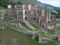 The ruined Sans-Souci Palace built in  by former slave Henri Christophe after hed been made King of Hati  by Iconem