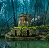 The ruins of an ancient castle in Sintra Portugal