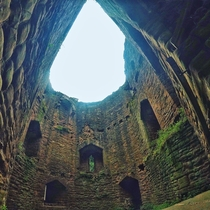The ruins of Goodrich Castle Herefordshire UK
