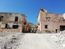 The ruins of the town poggioreal wich was destroyed by an earthquake in