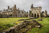 The ruins of Wenlock Priory Much Wenlock England  by Michael Yule