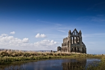 The ruins of Whitby Abbey England