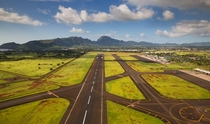 The runway at Lihue Airport Kauai