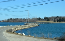 The S shaped causeway that carries State Route  between Little Deer Isle and Deer Isle in Maine