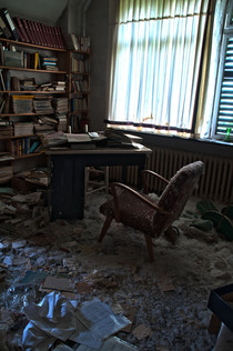 The sad side of abandoned places This office is in an old doctors house in Germany known as Dr Anna L It got ransacked