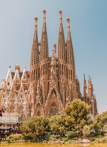 The Sagrada Familia Barcelona Spain by Antonio Gaudi