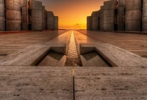 The Salk institute in San Diego has some mind blowing architecture