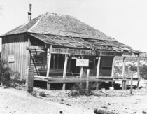 The saloon of Judge Roy Bean sometime after its heyday