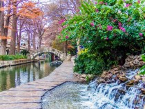 The San Antonio Texas Riverwalk at Morning