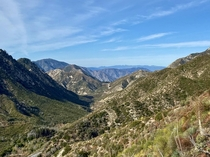 The San Gabriel Mountains of Southern California  x