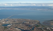 The San Mateo-Hayward Bridge in the San Francisco Bay plus the highly successful community of Foster City built on Bay Fill in the s