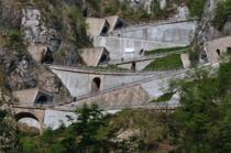 The Sand Boldo Pass in Italy Includes five hairpin turn tunnels