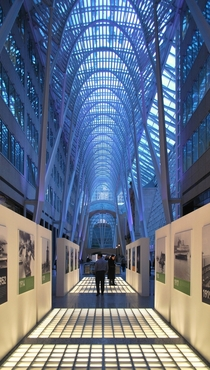 The Santiago Calatrava-designed Allen Lambert Galleria in Toronto