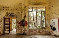 The Satsang Hall in the abandoned Maharishi Mahesh Yogi Ashram where The Beatles wrote The White Album