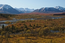 The Savage River Valley in Denali National Park Alaska - early September