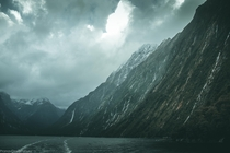 the scale of the mountains in Milford sound is insane