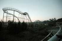 The Screw Coaster at the abandoned Nara Dreamland theme park in Japan