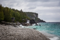 The sea was angry that day my friends Bruce Peninsula National Park Ontario Canada