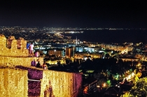The second biggest city of Greece Salonica as seen from its Byzantine-era walls