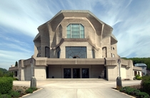 The Second Goetheanum seat of the Anthroposophical Society  in Dornach Switzerland designed by Rudolf Steiner