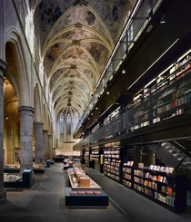 The Selexyz Dominicanen is a bookstore housed inside a  year old Gothic Church in Amsterdam