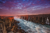 The Selfoss under a midnight sun in northern Iceland  by Sandro Bisaro - crossposted from rIsland