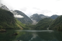 The serene and mysterious glacier valley Bondhusdalen in Norway