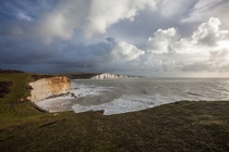 The Seven Sisters a series of beautiful chalk cliffs by the English Channel often used as stand-in for the White Cliffs of Dover in filmmaking