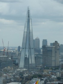 The Shard rising up in London