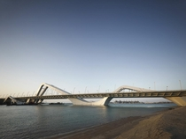 The Sheikh Zayed Bridge by Zaha Hadid in Abu Dhabi UAE