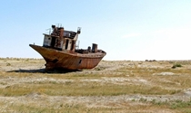 The ship graveyard of Aral the lost sea of Central Asia