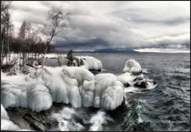 The shore of Lake Baikal Russia