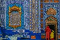 The Shrine of Sachal Sarmast Khairpur Pakistan - Built in the th Century AD using traditional Sindhi architecture and design