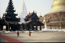 The Shwezigon Pagoda Pagan Burma  by Willard Losinger