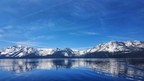 The Sierra Nevada from a boat on Lake Tahoe  adisarkar