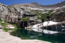 The Silliman Lake Sequoia NP California The long grueling hike up the steep granite slab was worth it The night was even more amazing