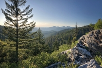 The Siskiyou Mountains as seen from Oregon Caves National Monument