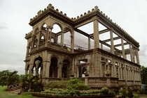The skeletal remains of a sugar barrons grand mansion which was torched during WWII in the Philippines