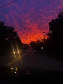 The sky is lava