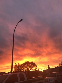 the sky was burning